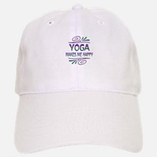 Yoga Makes Me Happy Baseball Baseball Cap