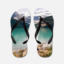 mountain landscape lake louise Flip Flops