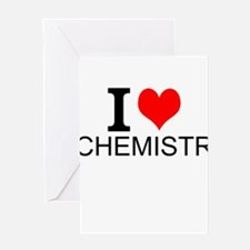 I Love Chemistry Greeting Cards