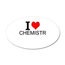 I Love Chemistry Wall Decal
