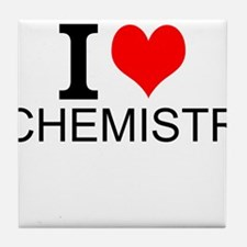 I Love Chemistry Tile Coaster