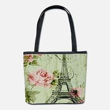 floral vintage paris eiffel tower Bucket Bag
