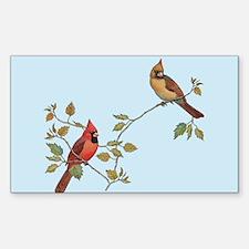 cardinal couple Decal