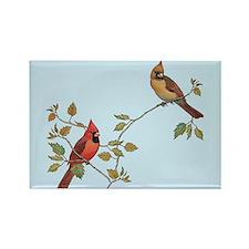 cardinal couple Magnets