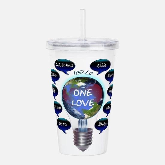 One Love Acrylic Double-wall Tumbler