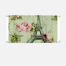 floral vintage paris eiffel tower Banner