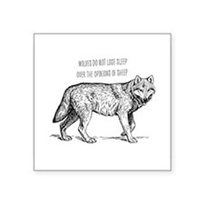 Wolves Don't Lose Sleep Sticker