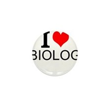 I Love Biology Mini Button (10 pack)