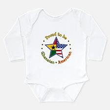 Funny Ghana Long Sleeve Infant Bodysuit