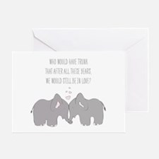 Elephants in Love Greeting Cards