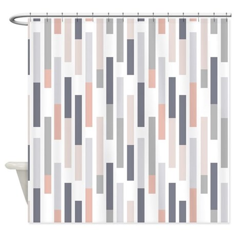 Geometric Pattern Shower Curtain By FuzzyChair