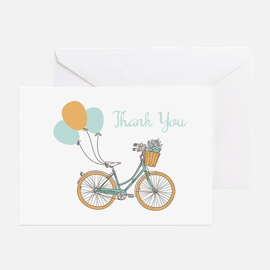Bicycle Thank You Greeting Cards