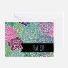 Colorful Floral Thank You Greeting Cards
