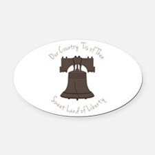 Land Of Liberty Oval Car Magnet