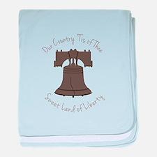 Land Of Liberty baby blanket