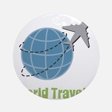 World Traveler Round Ornament