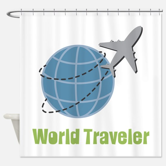 World Traveler Shower Curtain