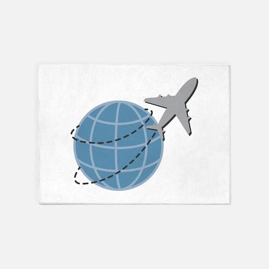 World Travel 5'x7'Area Rug