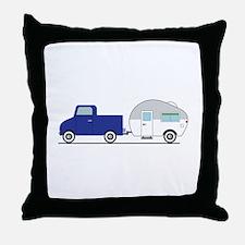 Truck & Camper Throw Pillow