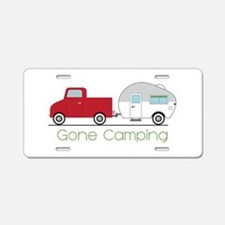Gone Camping Aluminum License Plate