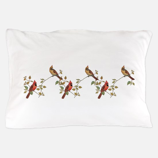cardinal couple Pillow Case