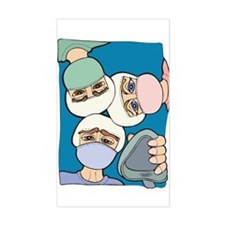 Surgery Get well gifts Rectangle Decal