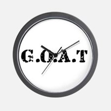 G.O.A.T - greatest of all tim Wall Clock