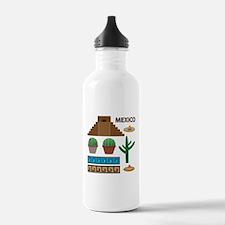 aztec pyramid Water Bottle