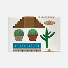 aztec pyramid Magnets