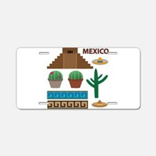 aztec pyramid Aluminum License Plate