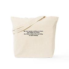 Funny My aunt my hero Tote Bag