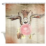 Cute Bubblegum Goat Shower Curtain