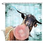 Billy Goat Bubblegum Shower Curtain