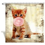 Bubblegum Kitten Shower Curtain