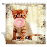 Bubblegum Kitten Shower Curtain