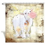 Bubblegum Baby Goat Shower Curtain