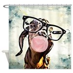 Nerdy Nubian Goat Bubblegum Shower Curtain
