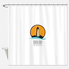 Santa Cruz California CA Light House Shower Curtai
