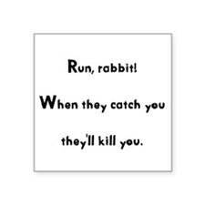 "Cute Black rabbit of inle Square Sticker 3"" x 3"""