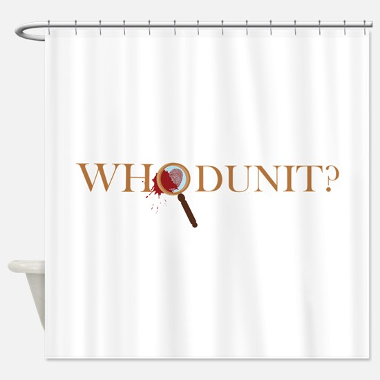 Whodunit? Shower Curtain