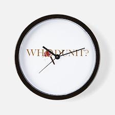 Whodunit? Wall Clock