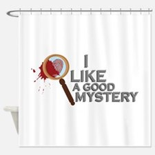 A Good Mystery Shower Curtain