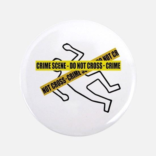 """Crime Scene Tape 3.5"""" Button (100 pack)"""