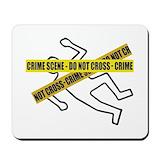 Crime scene Classic Mousepad