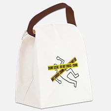 Crime Scene Tape Canvas Lunch Bag
