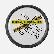 Crime Scene Tape Large Wall Clock