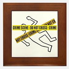 Crime Scene Tape Framed Tile