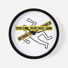 Crime Scene Tape Wall Clock