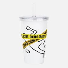 Crime Scene Tape Acrylic Double-wall Tumbler