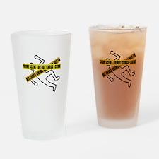 Crime Scene Tape Drinking Glass